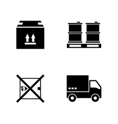 express delivery simple related icons vector image vector image