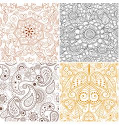 floral mehendi pattern ornament vector image vector image