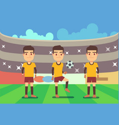 Football soccer players vector