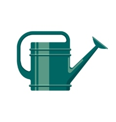 Gardening tool flat icon watering can isolated on vector image