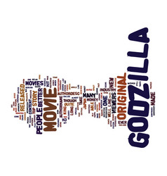 Godzilla movies text background word cloud concept vector