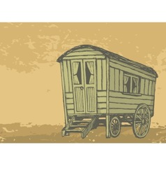 gypsy caravan wagon vector image