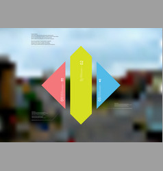 Infographic template with rhombus vertically vector