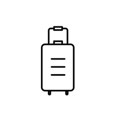 luggage bag icon vector image vector image
