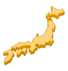 Map of japan icon cartoon style vector