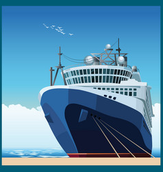 ocean liner at the pier vector image vector image