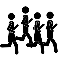Pictogram men jogging in marathon vector