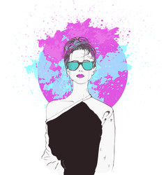 Pink fantasies swag girl vector