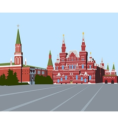 Red square moscow vector
