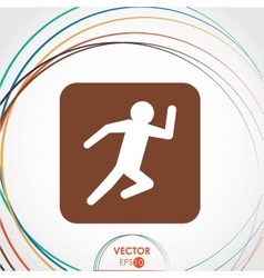 Running person icon design vector