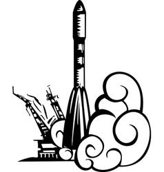 Russian Soyuz rocket vector image vector image