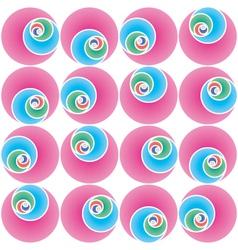 seamless circles pattern vector image vector image