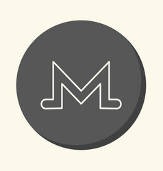 Symbol of digital crypto currency monero vector