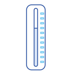 Termometer medical isolated icon vector