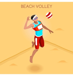 Volleyball beach 2016 summer games isometric 3d vector