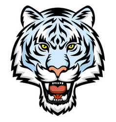White tiger head logo vector