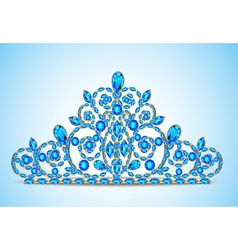 Womens gold diadem tiara vector