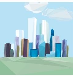 01 polygonal cityscape vector