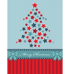 red and blue Christmas tree vector image