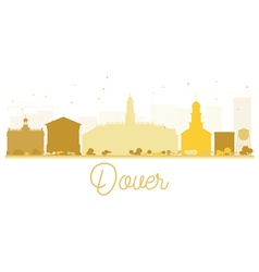 Dover city skyline golden silhouette vector