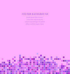 Purple abstract tiled square mosaic background vector