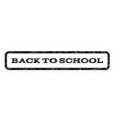 back to school watermark stamp vector image