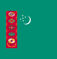 national flag of turkmenistan republic vector image