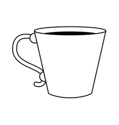 Coffee beverage in mug icon image vector