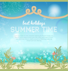 Colorful summer template vector