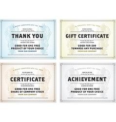 Gift certificate vector image