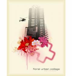 urban florals vector image
