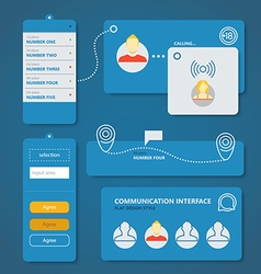 Different flat design interface elements vector