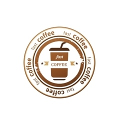 coffee stamps vector image