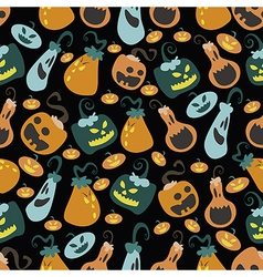 Halloween pumpkin pattern 03 vector