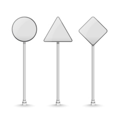 Blank white traffic road signs on white background vector