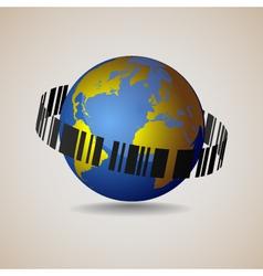 Globe-sale conceptual vector