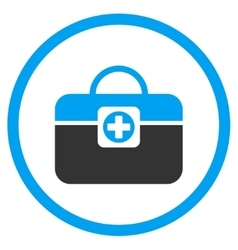 Medic case rounded icon vector