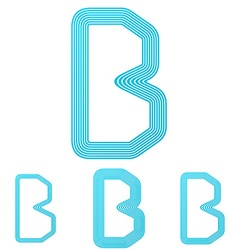 Cyan letter b logo design set vector