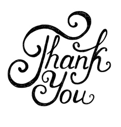 Note thank you on white background vector