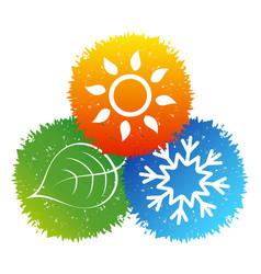 Air conditioning bio symbol vector