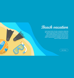 beach vacation flat design web banner vector image vector image