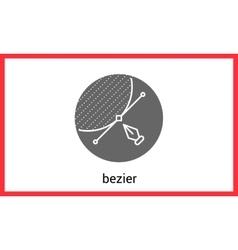 Bezier curve outline contour vector image