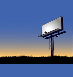 billboard at dawn vector image vector image