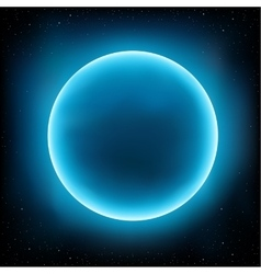 blue planet space vector image
