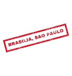 Brasilia sao paulo rubber stamp vector