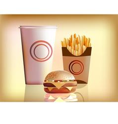 Burger fries cola vector image