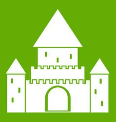 Chillon castle switzerland icon green vector