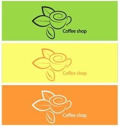 Coffee shop Logo design elements vector image vector image