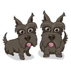 Cute cartoon puppy dogs vector