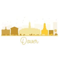 Dover City skyline golden silhouette vector image